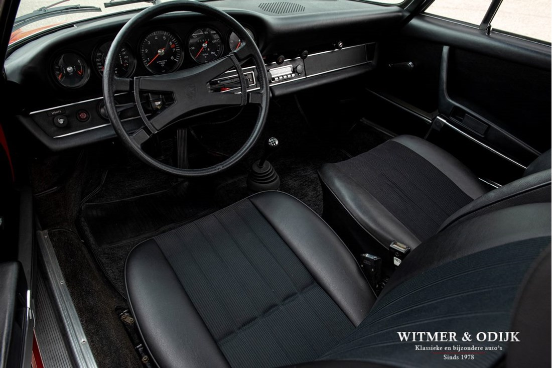 Interieur Porsche 911 2.4 T CIS Coupe '73 Matching numbers, eerste lak €89.911,-