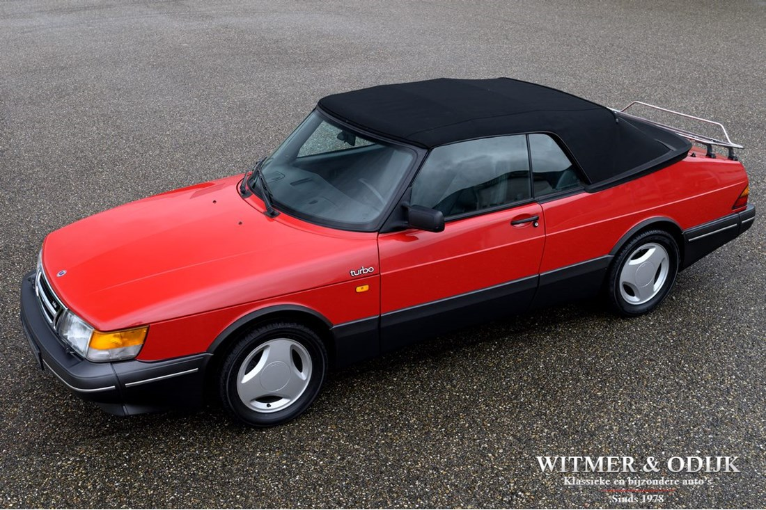 For sale: Saab 900 Cabriolet Aero Full Turbo '90 first paint, wholly original 113.000km €21.900,-